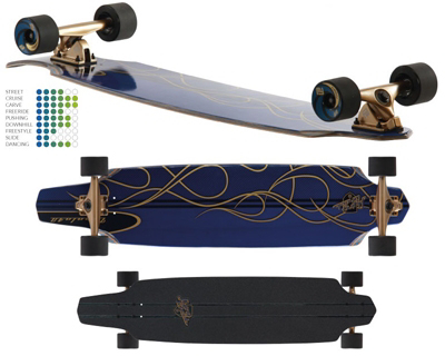 Flying Wheels Impala kicktail longboard