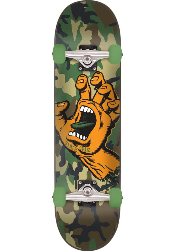 Santa Cruz Skateboard Screaming Hand Camo 6.75''