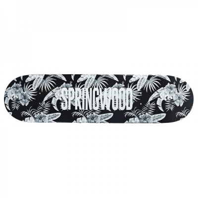 Springwood Tropical Leaves Skateboard Deck + Griptape