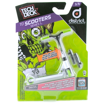 Tech Deck Finger Stuntstep District White/Green
